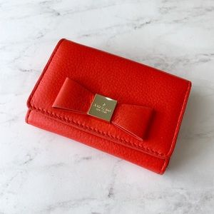 Kate Spade Bow Small Keychain Wallet